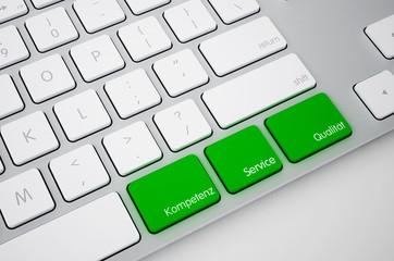 kompetenz service qualitat Tastatur