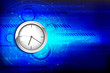 Hi Tech Background with Clock