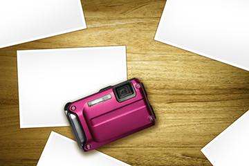 pink camera blank photos