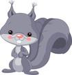 Fun zoo. Gray squirrel