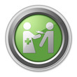 "Green 3D Style Button ""Immunizations"""