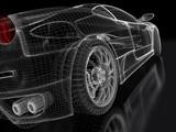 Fototapety Sports car model