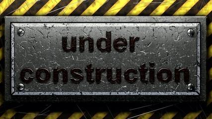Blinking under construction sign
