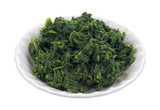 Small serving of chopped spinach in bowl
