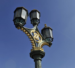 Victorian lamp post with royal insignia