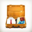 Suitcase, vector