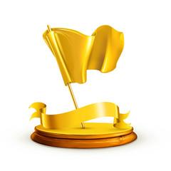 Gold Flag, vector