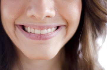 Closeup of a cute girl smiling