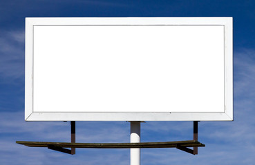 Blank Billboard Sign With Blank Background