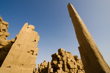 Karnak Temple egyptian obelisk