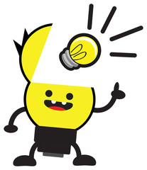 illustration of lamp character