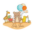 baby shower card with toys