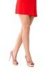 Pretty legs in mini skirt and high heels
