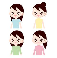 色々な服装の女性
