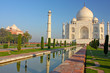 view of Taj Mahal at sunrise, Agra, Uttar Pradesh, India.