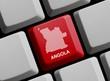Angola - Umriss auf Tastatur