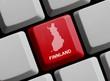 Finnland - Umriss auf Tastatur