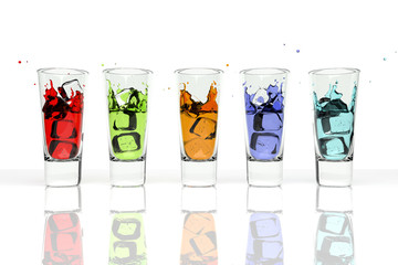 3D Colorful Drinks
