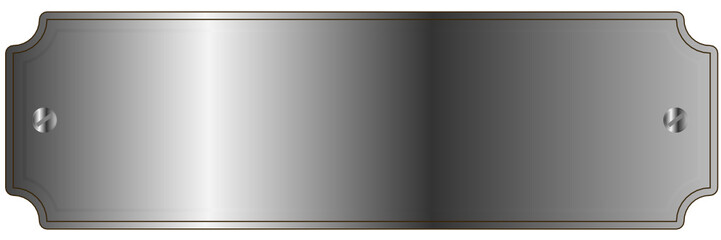 Klingelschild in Silber