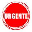 """Palavra """"urgente"""" dentro de um círculo vermelho"""