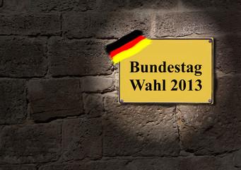 Deutscher Bundestag Wahl 2013