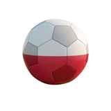 poland soccer ball isolated on white