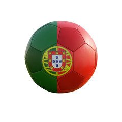 portugal soccer ball isolated on white