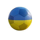 ukraine soccer ball isolated on white