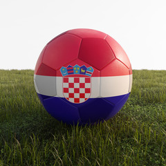 croatia soccer ball isolated on grass
