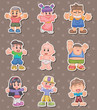 cartoon kid stickers