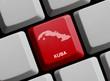 Kuba - Umriss auf Tastatur
