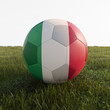 italy soccer ball isolated on grass