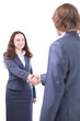 Handshake of the two businessmen, agreed in the