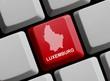 Luxemburg - Umriss auf Tastatur