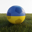 ukraine soccer ball isolated on