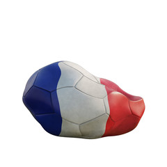 france deflated soccer ball