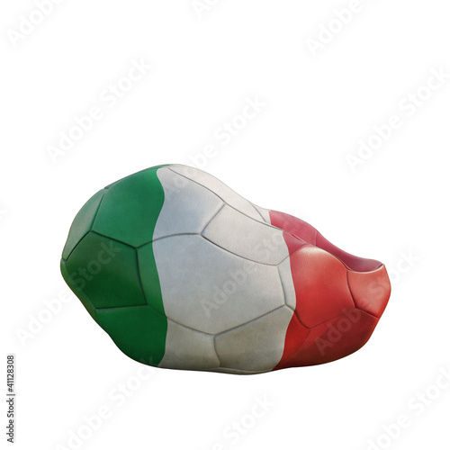italy deflated soccer ball