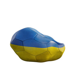 ukraine deflated soccer ball