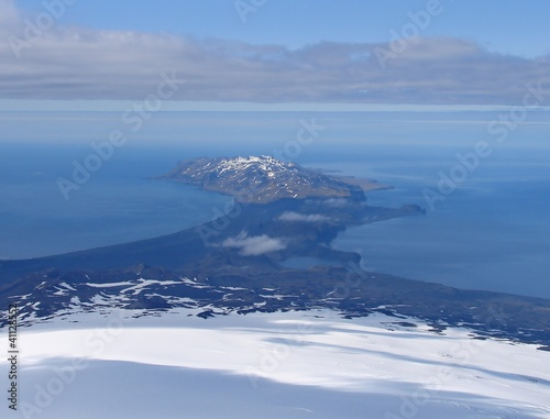 Spoed canvasdoek 2cm dik Antarctica 2 Souther part of Jan Mayen island from volcano Beerenberg
