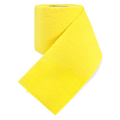 Toilet paper yellow with perforation