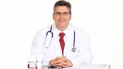 Smiling medical doctor.