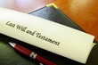 Last Will and Testament document on desk