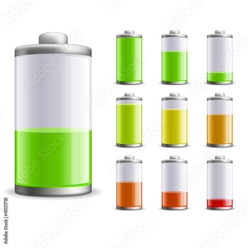 Battery charge status vector illustration.