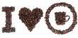cafe grano taza señal corazon