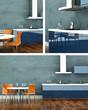 Küchendesign - Küche blau