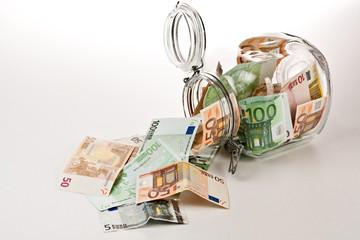 A Money jar full of savings