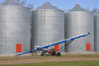 Auger and grain bins