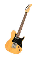 yellow electric guitar