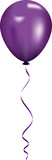 Vector illustration of purple balloon