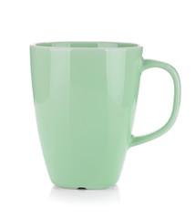 Light green coffee cup
